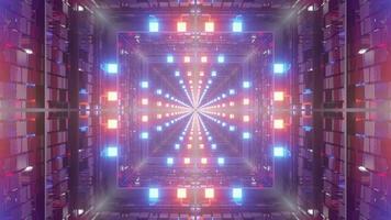 3D-Darstellung von 4k uhd futuristisch leuchtendem Tunnel foto