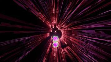 4k uhd verzerrtes Ornament im Tunnel 3D-Darstellung foto