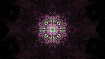kristallförmiges Ornament in der Dunkelheit 4k UHD 3D-Darstellung foto