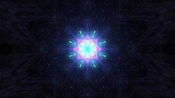 leuchtendes Neon-Ornament in der Dunkelheit 4k uhd 3D-Darstellung foto