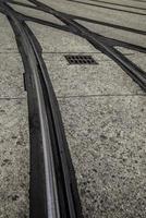 Straßenbahnschienen in Gent foto