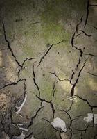 trockener Schlammboden durch Trockenheit foto