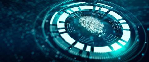 Fingerabdruck-Technologie-Scan bietet Sicherheitszugang foto