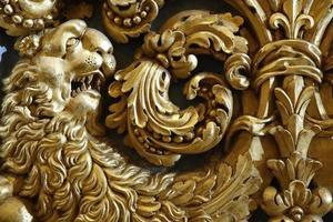 barocker goldener Löwe foto