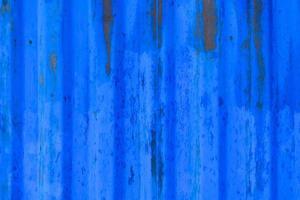 blaue abblätternde Metallwandstruktur foto