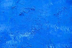 blauer abblätternder metallwandbeschaffenheitshintergrund foto