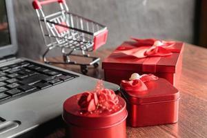 Black Friday Sale und Online-Sale-Konzept foto
