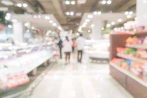 abstrakte Unschärfe im Supermarkt für Hintergrund foto