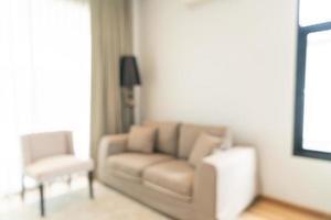 abstrakte Unschärfe und defokussiertes Wohnzimmer für den Hintergrund foto