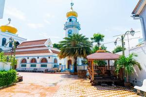 schöner musjid asassul islam in songkla, thailand foto