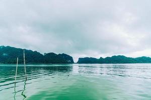 Talet Bay in Khanom, Nakhon Sri Thammarat, Thailand foto