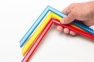 Hand- und Grundfarbpalette foto