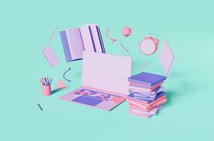abstraktes Online-Bildungskonzept foto