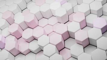 abstraktes Sechseck Hintergrund futuristisches Konzept 3D-Darstellung foto