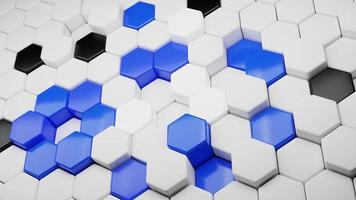 abstraktes Sechseck-Hintergrund-Technologie-Konzept. 3D-Darstellung foto