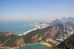 Copacabana-Viertel von der Spitze des Zuckerhuts aus gesehen foto