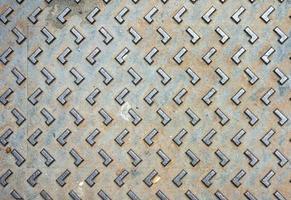 rustikale Grunge Kanaldeckel Textur foto