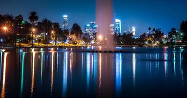 Los Angeles California City Downtown bei Nacht foto