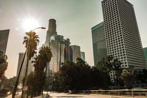 Wolkenkratzer in der Innenstadt von Los Angeles Kalifornien foto
