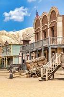 Vintage Far West Stadt mit Saloon. foto