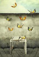 Hintergrund Schmetterlinge himmelwärts foto