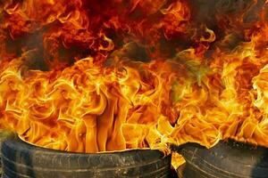 auf feuer flamme foto