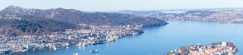 Bergen aus der Perspektive des Mount Floyen foto
