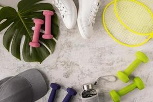 Sportelemente Anordnung minimaler Stil foto
