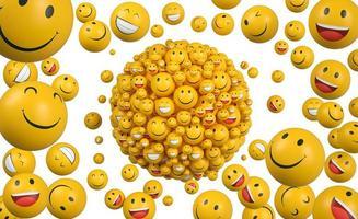 Weltlächeln Tag Emojis Anordnung smile foto