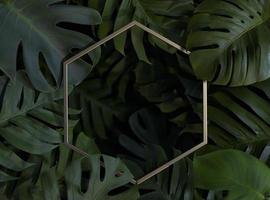 3D-Anordnung aus grünen Palmblättern foto