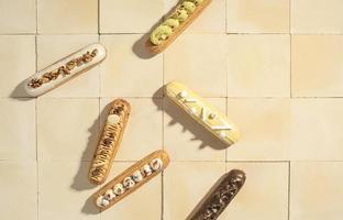 das flache Dessert-Arrangement foto