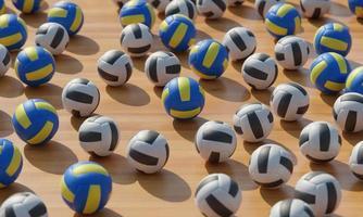 Draufsichtkomposition mit Basketbällen foto