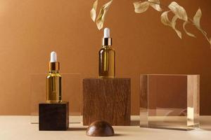 Make-up-Konzept mit goldener Pflanze foto