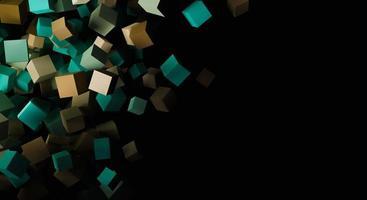 3D-Würfel-Hintergrund foto