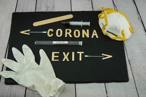 Corona-Virus eine weltweite pandemische Krankheit foto