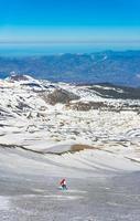 Skifahren auf dem Vulkan Ätna Sizilien foto