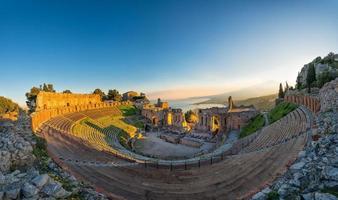 antikes theater von taormina foto