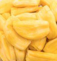 frische Jackfrucht auf weißem Hintergrund foto