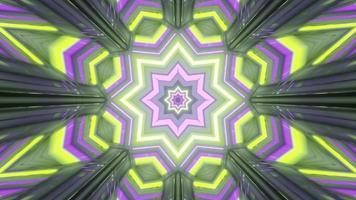 geometrisches Neon-Ornament in fantastischem Gateway 4k UHD 3D-Illustration foto