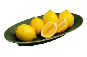 frische zitronenfrucht isoliert für die gesundheit foto