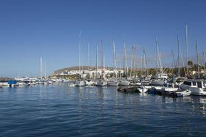 Segelboote im Hafen von Gran Canaria foto