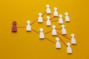 Networking-Konzept Stillleben-Komposition foto