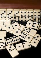 Steine für das Domino-Strategiespiel foto