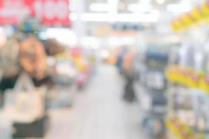 abstrakte Unschärfe Einkaufszentrum und Ladeninnenraum foto