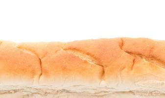 französisches Brot auf weißem Hintergrund foto