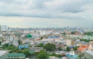 abstrakte Unschärfe Bangkok-Stadt für den Hintergrund foto