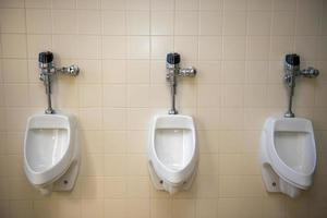 Urinal in einem Ruheraum foto