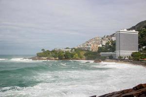 Vidigal beach in rio de janeiro, brasilien foto