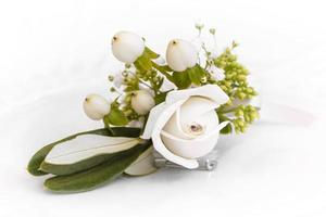 Strauß Rosen und Blumen für eine Hochzeit verwendet foto