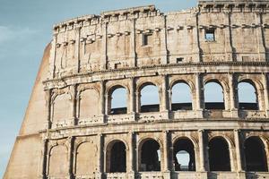 Detail des antiken Kolosseums foto